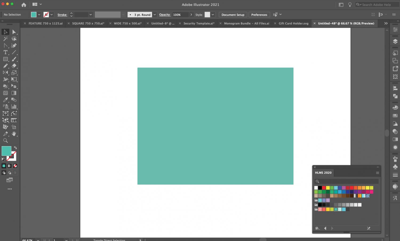 Adobe Illustrator: Rectangle for card