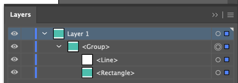 Adobe Illustrator: close up of layers panel with default naming