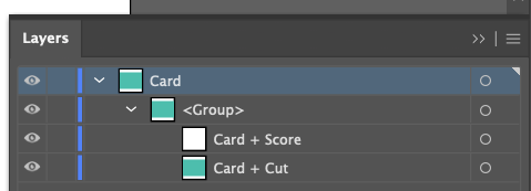 Adobe Illustrator: close up of layers panel with new names