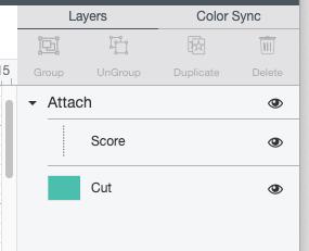 Cricut Design Space: closeup of layers panel