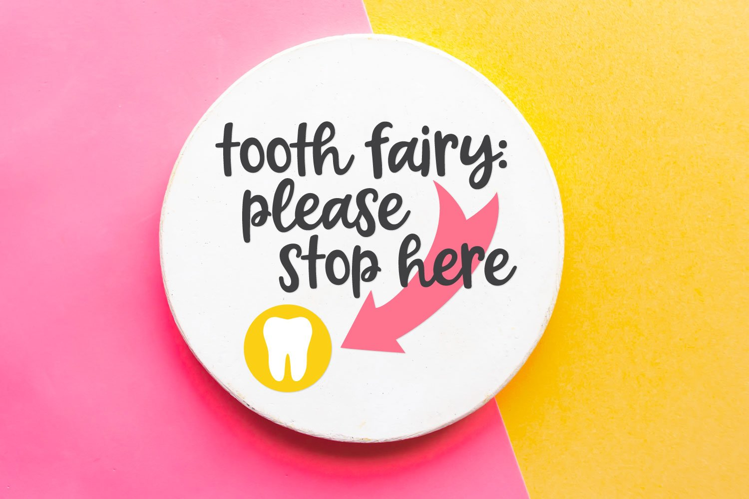 Tooth Fairy Please Stop Here SVG image