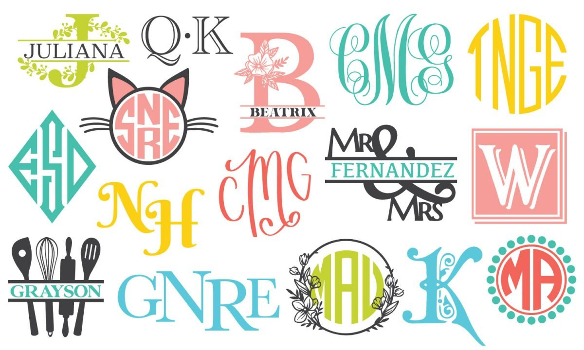 Feature image with a bunch of different monogram styles