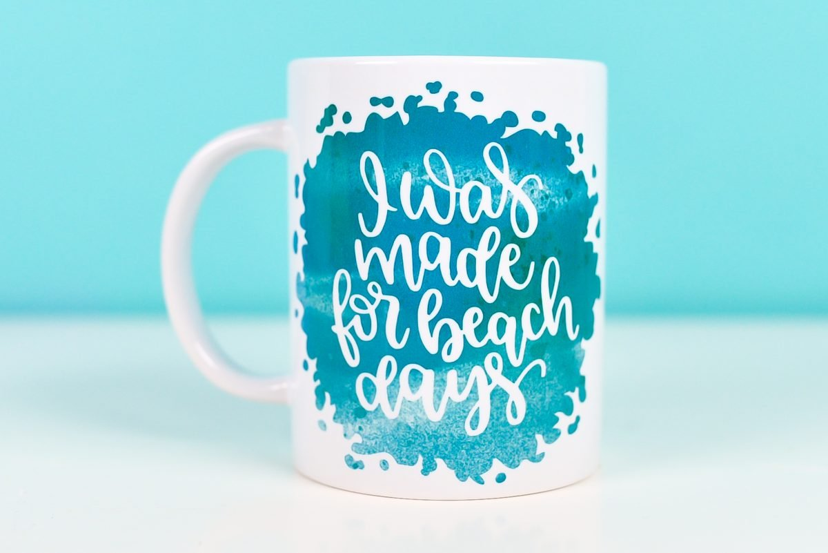 """""""I was made for beach days"""" mug"""
