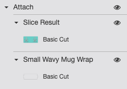 Cricut Design Space: Two layers attached