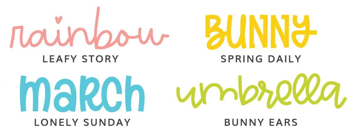 Fonts: Leafy Story, Spring Daily, Lonely Sunday, Bunny Ears