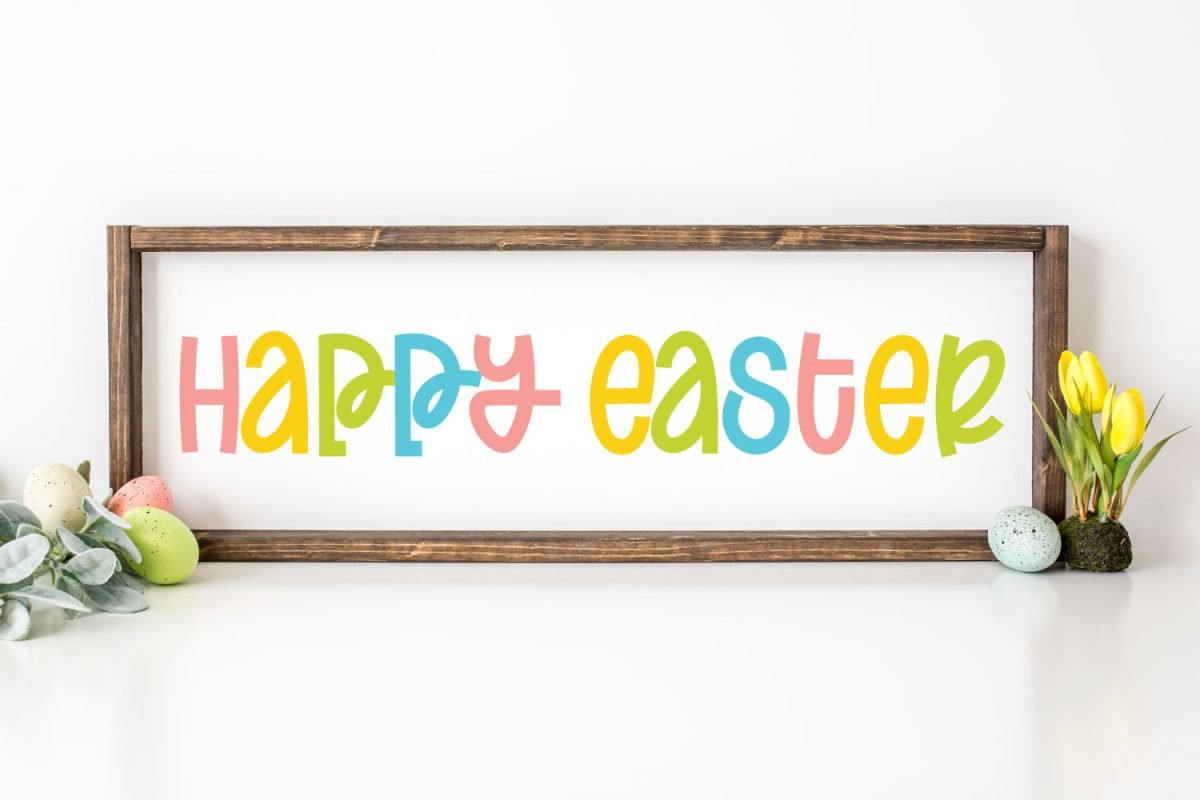 Sign with Happy Easter on it