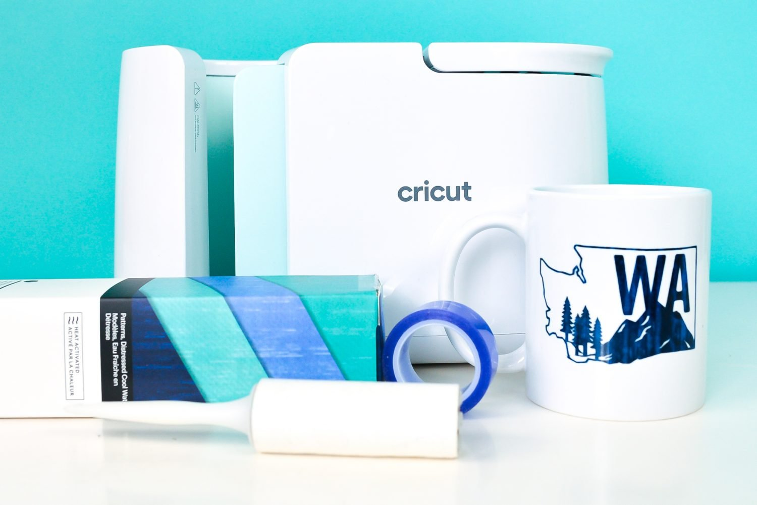 Washington Mug, Infusible Ink, Lint Roller, Heat resistant Tape and Cricut Mug Press