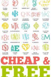 Monogram Fonts Pin Image