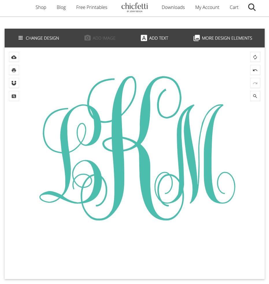 Chifetti Monogram Creator: Swirly Monogram LKM