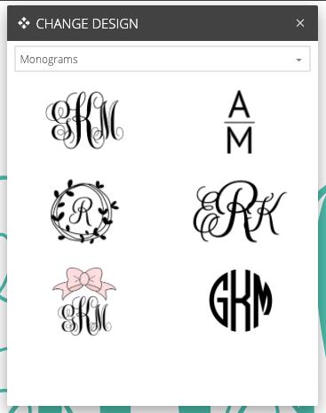 Chifetti Monogram Creator: Different Monogram Styles