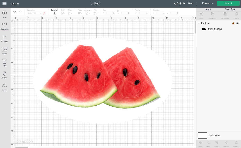 Cricut Design Space: Watermelon sticker