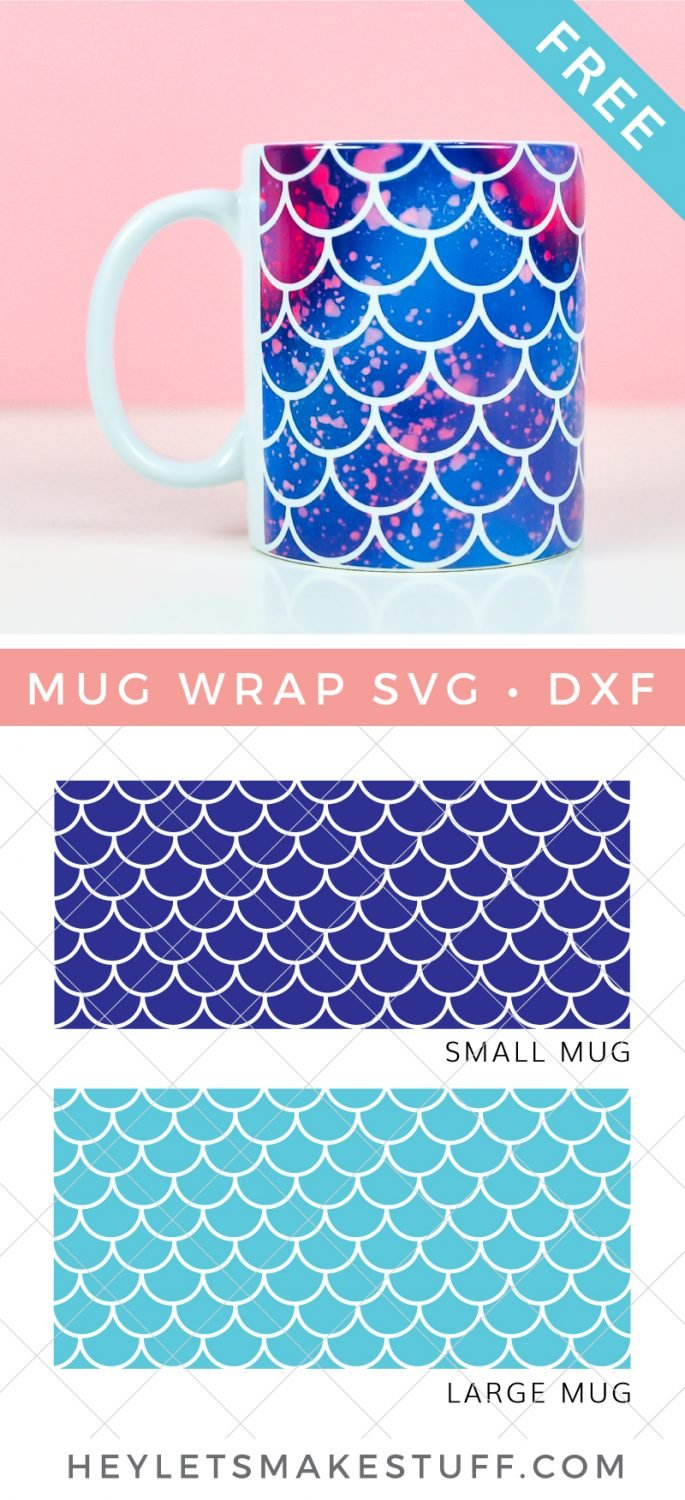 Free Mermaid Mug Wrap Design SVG pin image