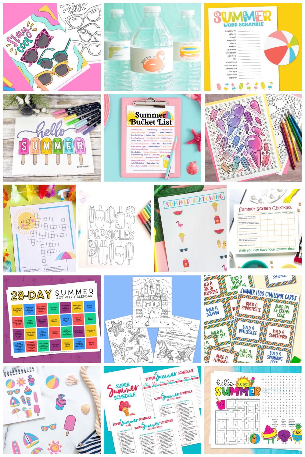 All free printables featured in this series