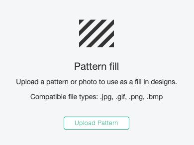 Cricut Design Space: Pattern Fill option