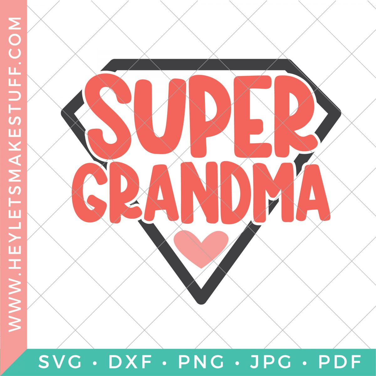 Super grandma on security background